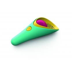 QUUT Cuppi zelená + růžový míček - Lopatka se sítkem a míčkem