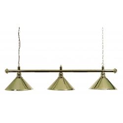 Lampa mosazná 3 stínidla 150 cm