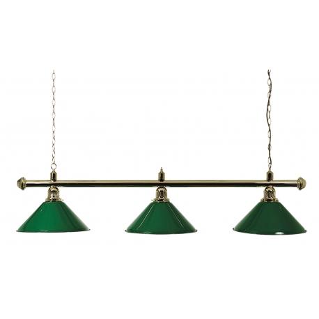 Lampa zelená mosazná 3 stínidla 150cm
