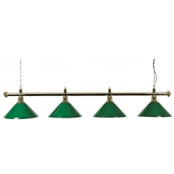 Lampa zelená mosazná 4 stínidla 180cm