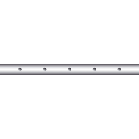 Tyč stolní fotbal 5 dírek 95 cm, 13 mm