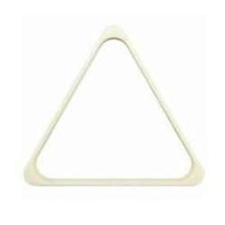 Trojúhelník pool bílý plast 57,2 mm