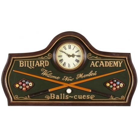 Hodiny Billiard Academy