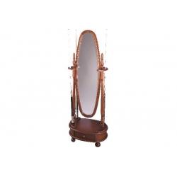 Stojan Dublin pro 8 tág, se zrcadlem, hnědý