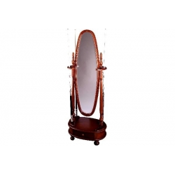 Stojan Dublin pro 8 tág, se zrcadlem, mahagon