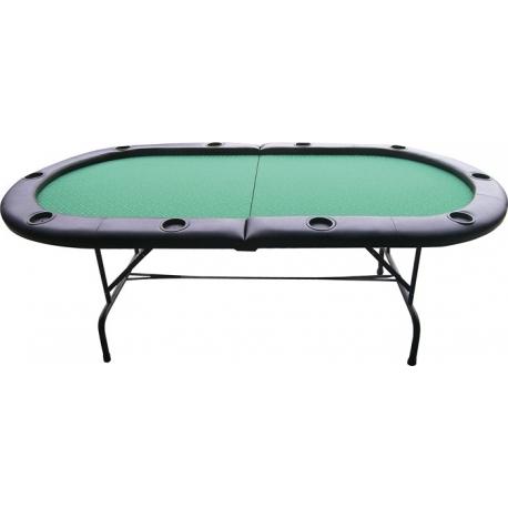 Pokerový stůl Gambler 210x105cm skládací černý