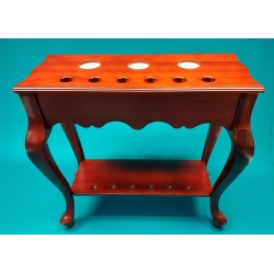 Stojan - stolek, na 6 tág De Luxe Mahagon