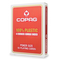 Poker karty Jumbo 4 rohy Blue