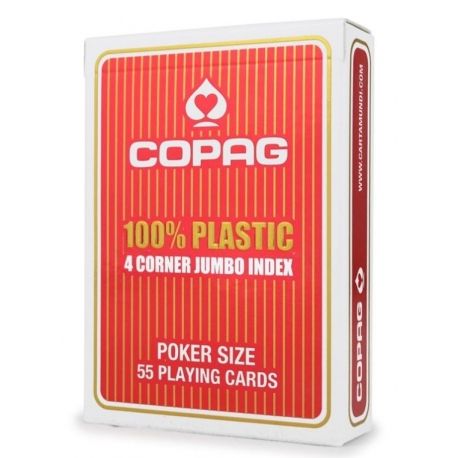 Copag 100 % Plastic 4 Cornier Jumbo Index RED