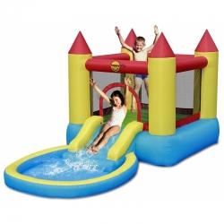 Skákací hrad s bazénkem a skluzavkou