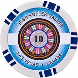 POKEROVÝ ŽETON HIGH-ROLLER 10