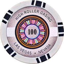 POKEROVÝ ŽETON HIGH-ROLLER 100