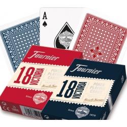 Pokerové karty Fournier 18 modré