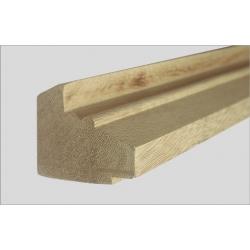 Dřevěné lišty pod mantinely Artemis profil 79
