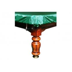Krycí plachta na kulečník 6, 7, 8, 9ft, zelená s gumou