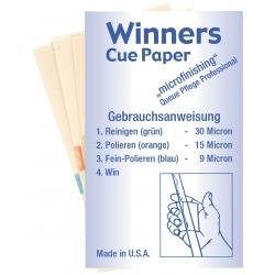 Čistící papírky Winners Cue Paper