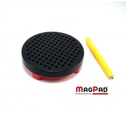 Magnetická kreslící tabulka Magpad Round cestovní, Barva Černá
