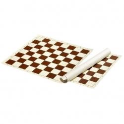 Šachové plátno hnědé, pole 50 mm Philos