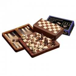 Šachy+dáma+Backgammon set magnetic malý Philos
