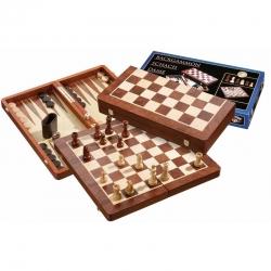 Šachy+dáma+Backgammon set velký Philos