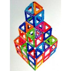 Magnetická stavebnice MagSmart plastový box  62 dílků
