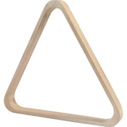 Trojúhelník pool dřevěný bílý 57,2 mm