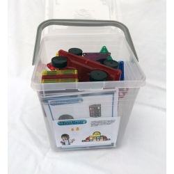 Magnetická stavebnice MagPlus  Cars 100 dílů plast box