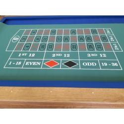 Plátno na ruletu s 1 nulou gumové