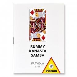 Pravidla Rummy, Kanasta a Samba