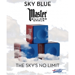 Kulečníková křída Master Tournament/Sky Blue - Prestige