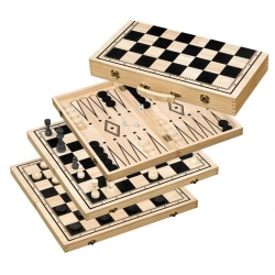 Šachy+dáma+Backgammon set