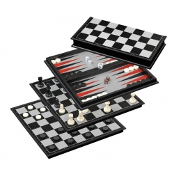 Šachy+dáma+Backgammon set Magnetic