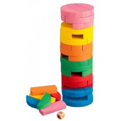 Padající věž Jenga barevná válec