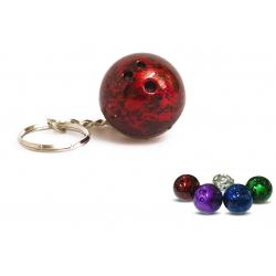 Přívěsek bowlingová koule 30 mm, různé barvy