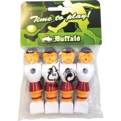 Hráč stolní fotbal Buffalo červeno-bílý set 4 ks