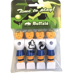 Hráč stolní fotbal Buffalo modro-bílý set 4 ks