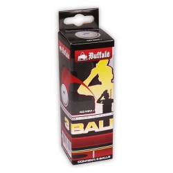 Míčky na stolní tenis Buffalo TT Balls celluloid-free 1Star 3ks