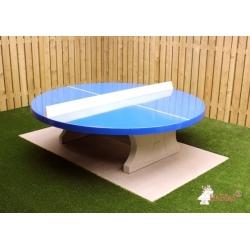 Stolní tenisový stůl betonový kulatý modrý