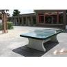Stolní tenisový stůl betonový zelený se zaoblenými rohy