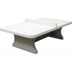 Stolní tenisový stůl betonový přírodní se zaoblenými rohy