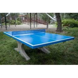 Stolní tenisový stůl betonový modrý