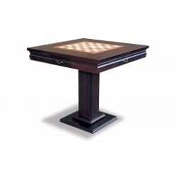 Šachový a karetní stolek Master 81x81 masiv