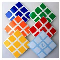 Rubik´s náhradní nálepky na kostku 3x3x3