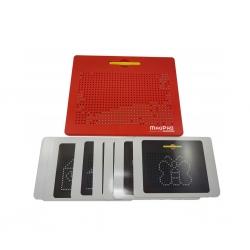Magnetická kreslící tabulka MagPad BIG 714 kuliček,Barva Červená