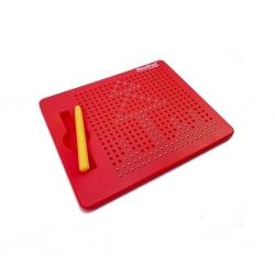 Magnetická kreslící tabulka Magpad - Medium 380 kuliček, Barva Červená