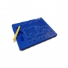 Magnetická kreslící tabulka Magpad - Medium 380 kuliček, Barva Modrá