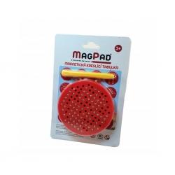 Magnetická kreslící tabulka Magpad Round cestovní, Barva Červená