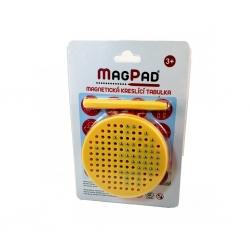 Magnetická kreslící tabulka Magpad Round cestovní, Barva Žlutá