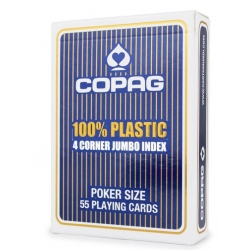 Copag 100 % Plastic 4 Cornier Jumbo Index BLUE