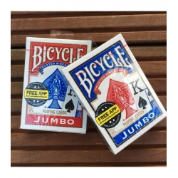 Bicycle Rider Back International Jumbo Index BLUE